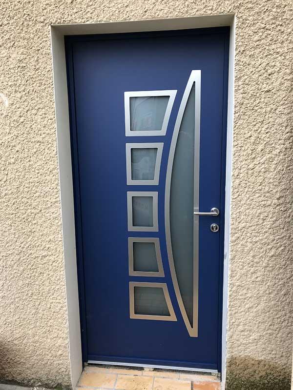 Pose porte d'entrée aluminium Etoile sur Rhône
