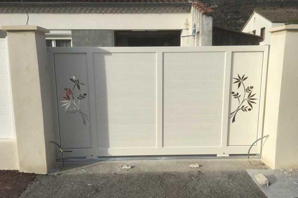 Pose portail décoratif aluminium Valence