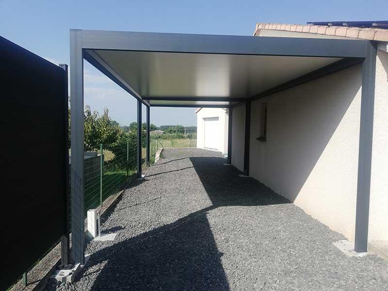 Installation de carport à Baix en Ardèche